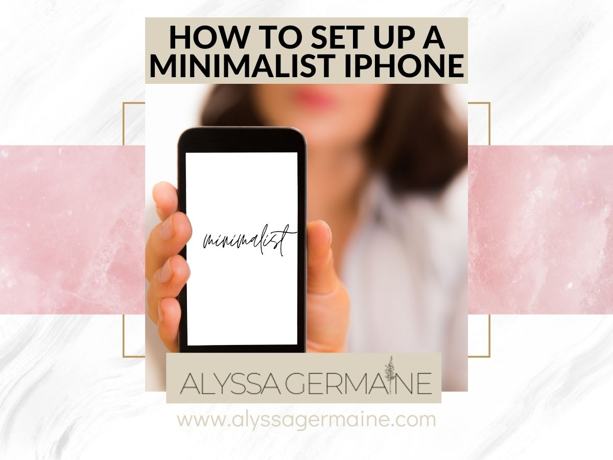 how to make a minimalist iphone